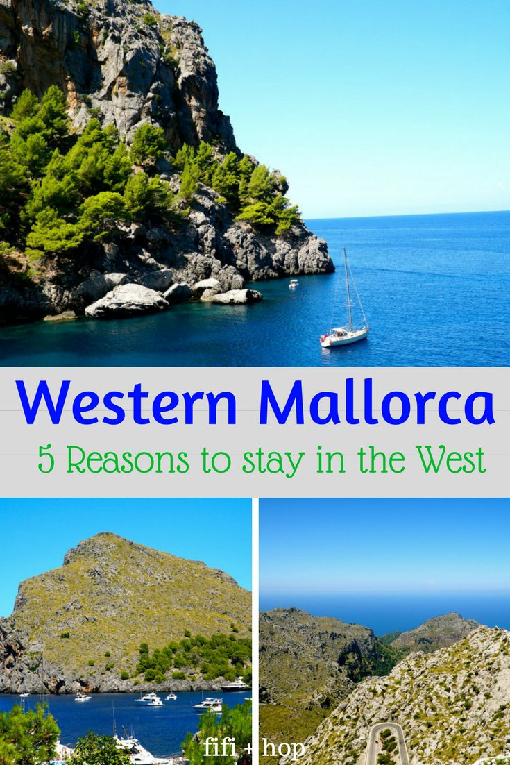 Many people consider Western Mallorca to be the most beautiful part of the Spanish island. The place where mountains meet sea, with dramatic scenery, the region is visually stunning. Here are 5 reasons why we chose to stay on the west coast of Mallorca. #Mallorca #westernmallorca #vacation