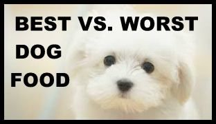 BEST AND WORST DOG FOOD COMPARISON CHART