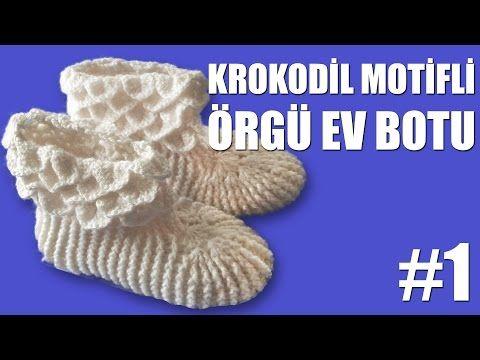 Krokodil Desenli Örgü EV BOTU Yapımı #Bölüm1 - YouTube