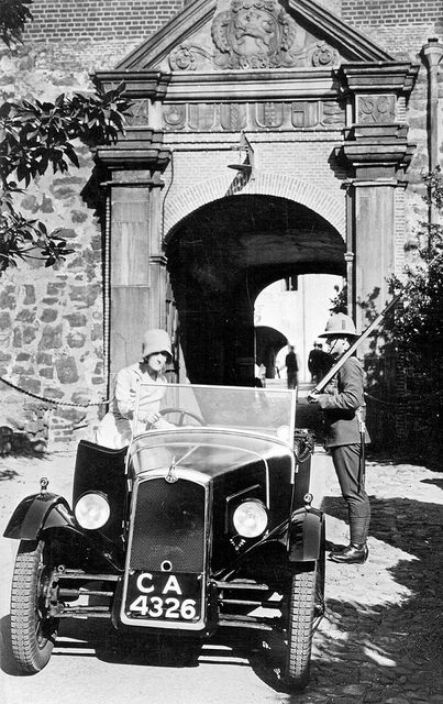 Amy Ratcliffe and her BSA Motor Car at the Castle, Cape Town c1916  | Flickr - Photo Sharing!