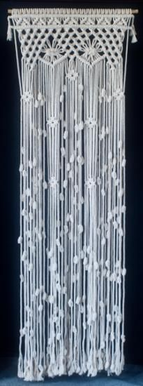 cortinas de macrame  algodon macrame                                                                                                                                                      Más