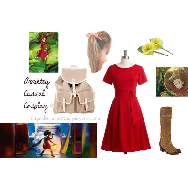 """""""Arrietty Casual Cosplay"""" by cupcake-curiosities on Polyvore"""