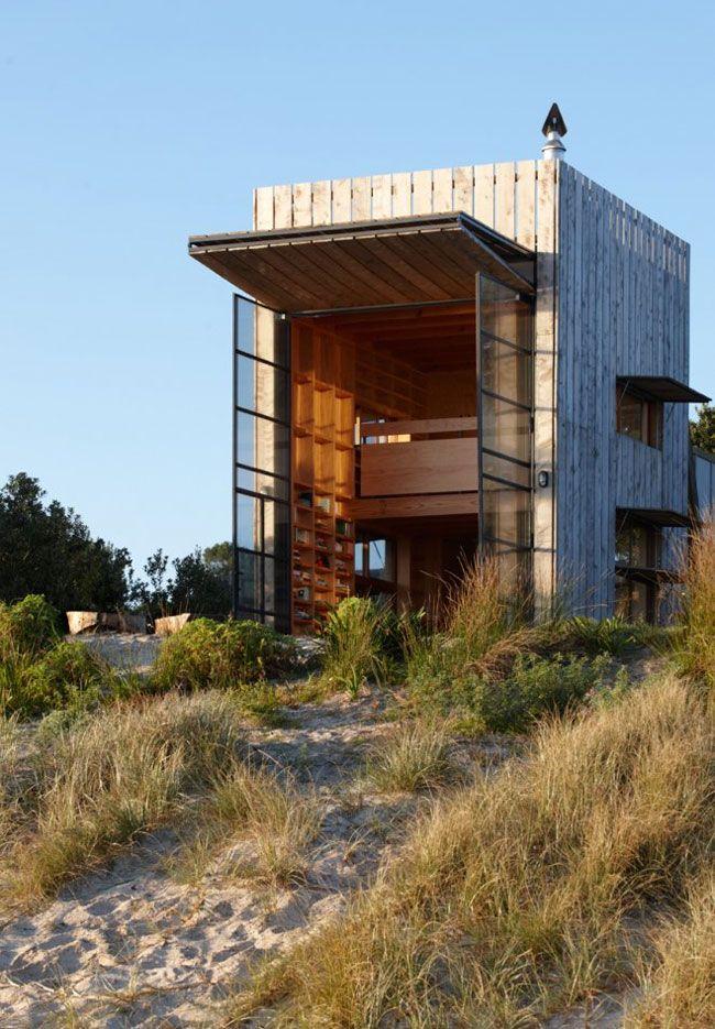 Strandhütte auf Kufen, Neuseeland | Tiny Houses