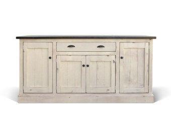Painted Cottage Shabby White Farmhouse China Cabinet/ Bookcase