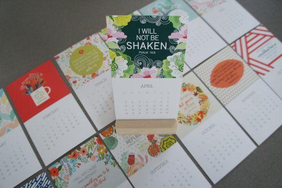 2016 Bible Verse Calendar Set by Jenze on Etsy