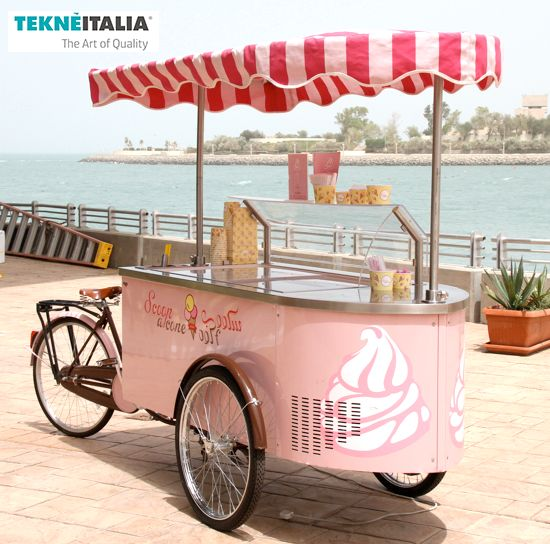 "Tekneitalia - Gelateria : ""Ice Cream Scoop"" by tekneitalia made in italy www.tekneitalia.com - Kuwait - Model: Procopio gelato cart (ice cream cart - carretto gelato)"