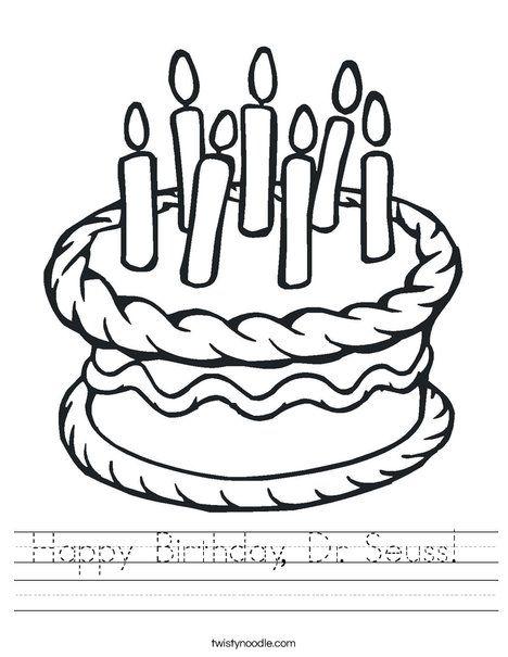 Happy Birthday, Dr Seuss Worksheet - Twisty Noodle(画像あり)