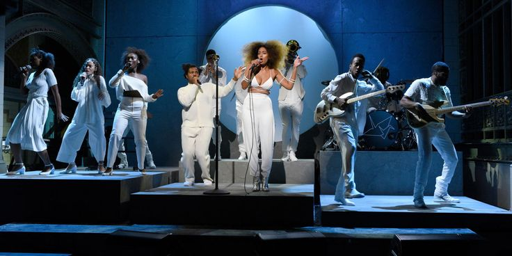 Beyoncé and Tina Lawson Showed Up to Support Solange During Her SNL Debut