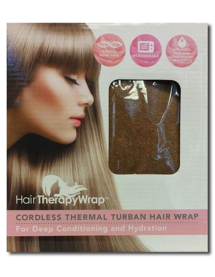 HAIR THERAPY WRAP CORDLESS THERMAL TURBAN HEATING CAP