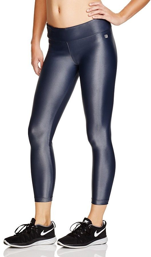 Show off your toned legs with these lustrous capri leggings!