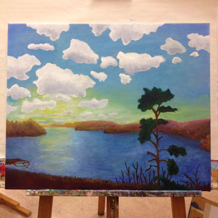 Akrylmålning av utsikten från Konstskolan