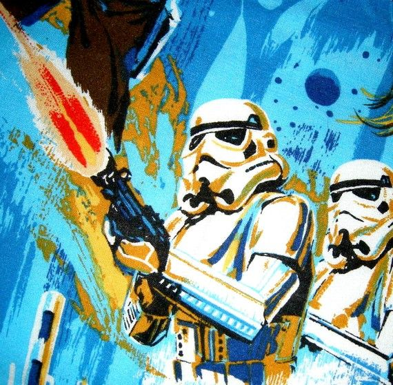 Vintage Star Wars Bed Sheets from the 1970s  Dream in by BlueFlirt