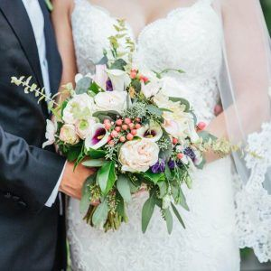Rustic & Whimsical wedding, bridal bouquet, colorful flowers – Narcissus Florals, Narcissusflorals.com.