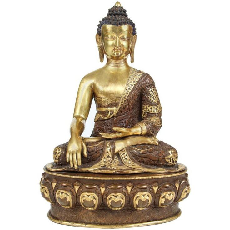 Buy Brass Buddha Statue by Mosaik - Limited Edition designer Accessories from Dering Hall's collection of Traditional Decorative Objects.