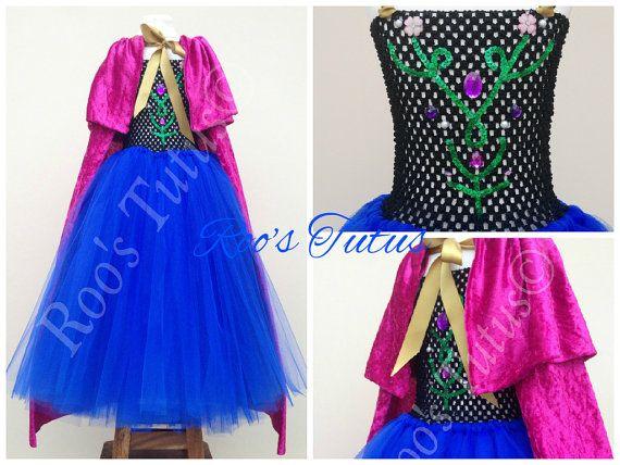 Anna Frozen inspired dress Princess tutu costume by ItsRoosTutus
