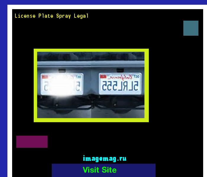 License plate spray legal 182454 - The Best Image Search