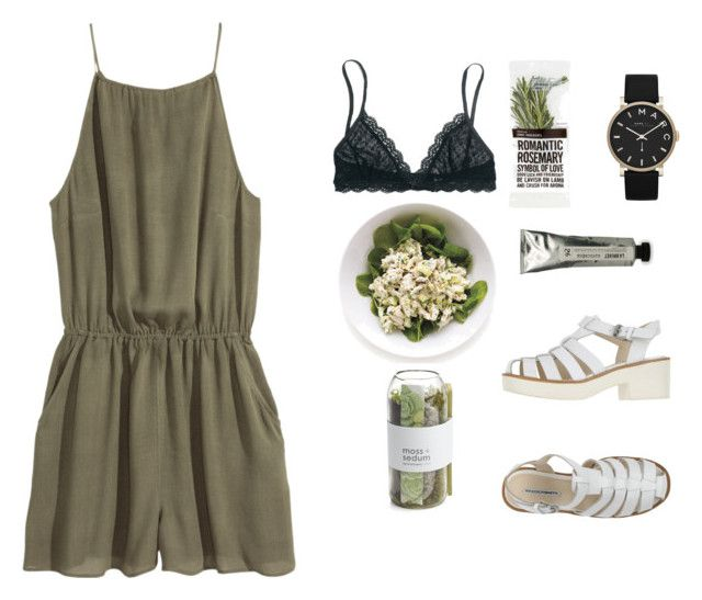 """""""Green Land"""" by oliviiiias on Polyvore featuring H&M, Madewell, Marc by Marc Jacobs, Windsor Smith, L:A Bruket and Crate and Barrel"""