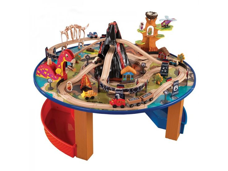 Brace yourself for a super fun Highway of trains prehistoric dinosaurs and a big volcano with this cool Kidkraft Dinosaur Train Table Set.  sc 1 st  Pinterest & 131 best vlakci.si - Wooden Trains images on Pinterest   Wooden ...