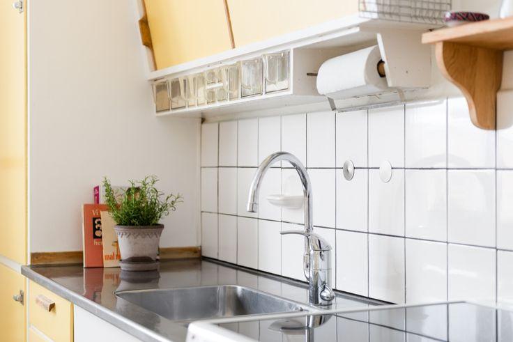 Yellow 50's kitchen, Uppsala, Sweden #Yellow #50s #kitchen #Retro #Uppsala #Sweden