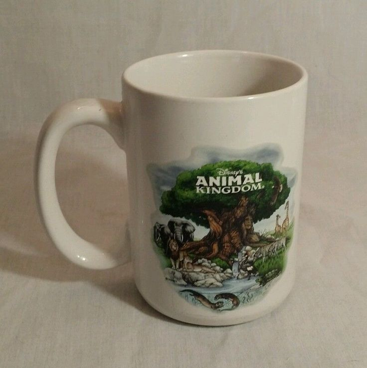 Coffee Mug - Disney's Animal Kingdom - 14 ozs. - Walt Disney Souvenir Tea Cup #Disney