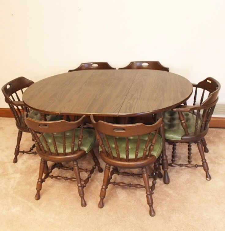 1970's table and chairs for the family meals.
