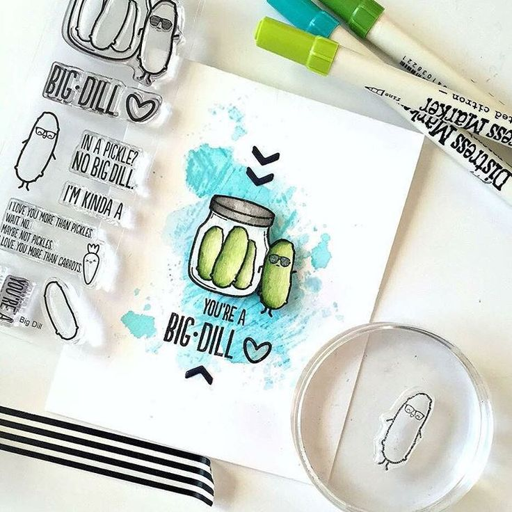 Encouragement Card created using the Sweet Stamp Shop Big Dill stamp set #sssencouragement