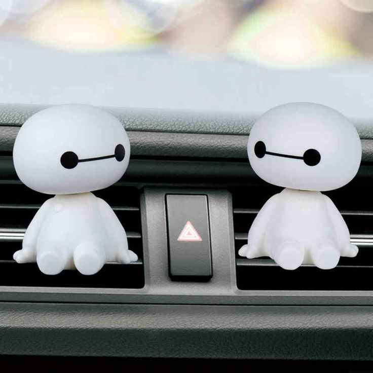 Baymax Car Air Freshener Perfume Holder Car Interior for Air Condition Outlet #Homer #Cutecarperfumeholder