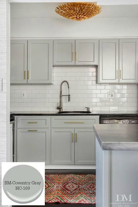 10 Timeless Grays for the Kitchen-Benjamin Moore/ Coventry Gray/ Designer/ Design Manifest