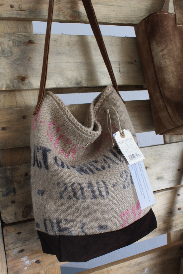 Burlap coffee bag crafts - With Burlap Coffe Bags