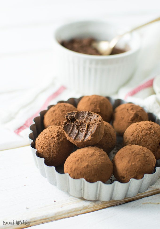These sinful Aztec Chocolate Avocado Truffles are made from pure dark chocolate and mashed avocado, rolled in Aztec hot chocolate mix. | Crumb Kitchen