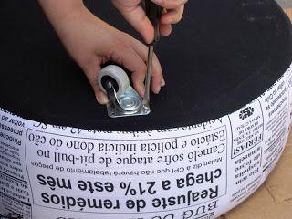 Ô SÔ: Passo a passo: como fazer um pufe de pneu