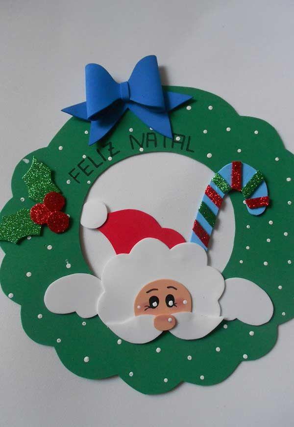 Enfeite De Natal Em Eva De Porta Enfeites De Natal Em Eva
