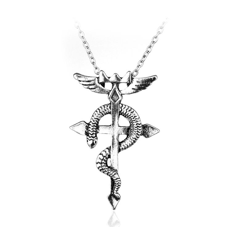 Anime Style Vintage Fullmetal Alchemist Edward Elric Chain Pendant Necklace Hot Sale Classic Women And Men Statement Necklace