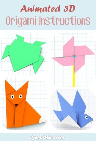 Easy to follow animated 3D origami instructions - great quiet time activity or travel activity #kidsapps
