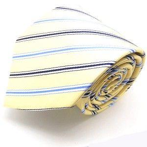 label-cravate - Cravate jaune à rayures