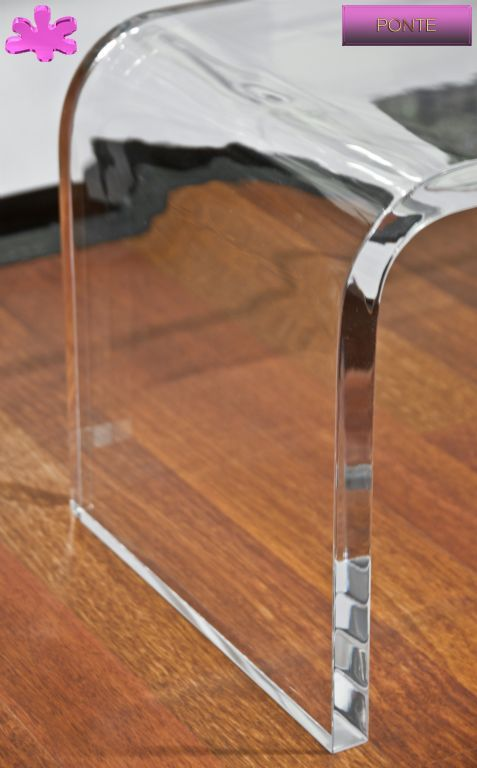 MOBILI TV IN PLEXIGLAS | 03.mobile trasparente in plexiglas per TV  mod.PONTE  | Porta TV plexiglass particolare