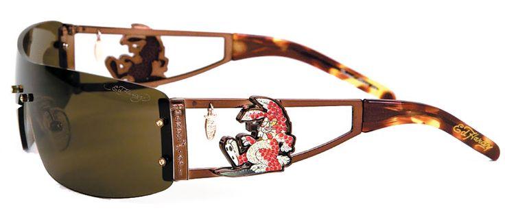 Ed Hardy EHS-026 Rabbit Sunglasses – Cocoa/Brown