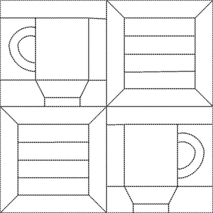 free little quilt 2 with cup and spool , design by Dorte Rasmussen Denmark
