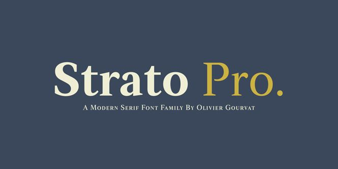 Strato Pro by Olivier Gourvat - up in the skies of high level design #serif #typeface #ornaments #display #font