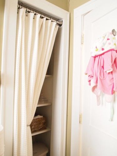 DIY Projects. Closet Curtain DoorCloset ...