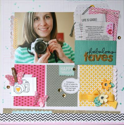 'My Favorite Things' theme week on the Pebbles blog - Fabulous Faves by Jaclyn Rench