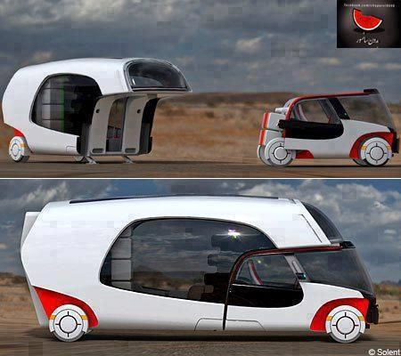 how cool is this solent rv concept solar powered hybrid electric camper with car from. Black Bedroom Furniture Sets. Home Design Ideas