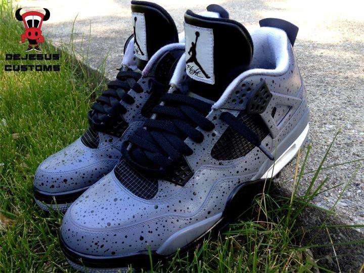 Air Jordan 4 All Over Cement Custom