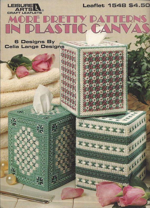 More Pretty Patterns In Plastic Canvas - Leisure Arts #1548 Tissue Boutique Tissue Box Cover, Home Decor, Bedroom Decor, Kitchen Decor