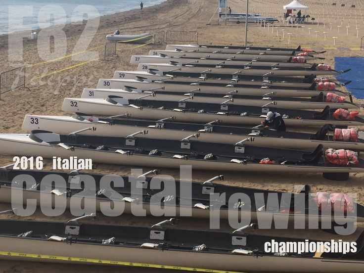 Filippi C4x+ F82 in occasione dei Campionati Italiani di Coastal Rowing 2016