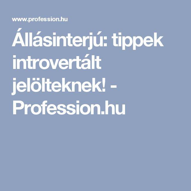 Állásinterjú: tippek introvertált jelölteknek!                           -                                     Profession.hu