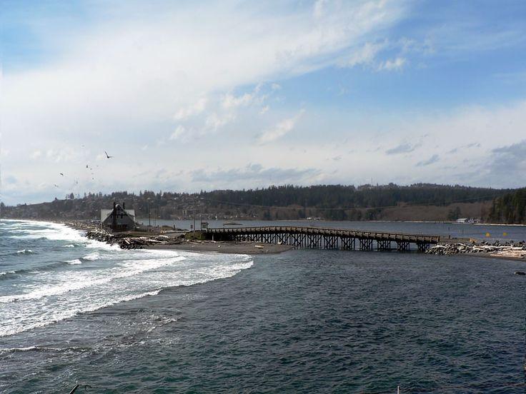 Bridge at the northeast end of the Coburg Peninsula, Esquimalt, BC, Canada.