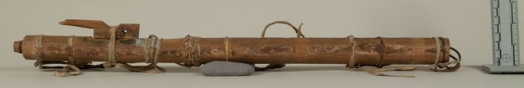 Флейта, Шайены. Длина 20 1/8, дюймов, диаметр 1 3/8 дюйма. Донор Rev. Heinrich R. Voth.  Дата поступления 1893 год.  NMNH.