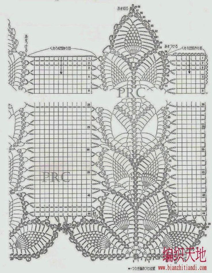 Crochet Knitting Handicraft: Curtains pineapple