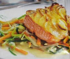 Rezept Variation von Lachsfilet mit Kartoffelkruste von Emsblume - Rezept der Kategorie Hauptgerichte mit Fisch & Meeresfrüchten